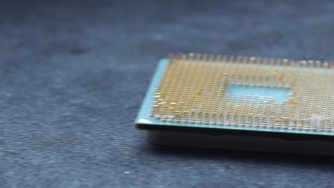 Damaged CPU stock footage