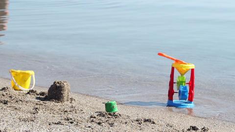 Sand Beach Toys Footage