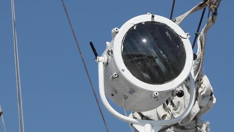 Ship Communication Spotlight stock footage