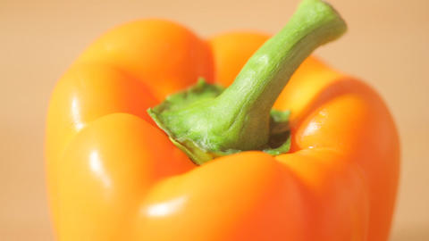 Close view of a bell pepper Footage