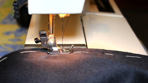 Work On The Sewing Machine stock footage