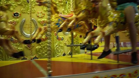 Carousel in Luna Park Sydney Footage