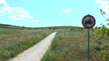 A Farm Road In Mediterranean Landscape stock footage