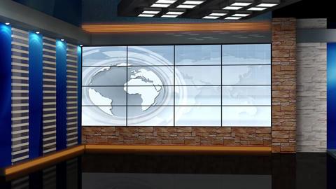 News TV Studio Set 68 - Virtual Background Loop Footage