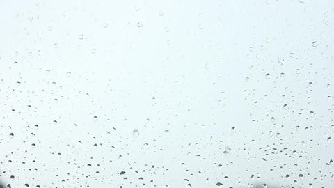 Water Drops , White Sky View stock footage