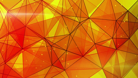 orange triangles web pattern loopable 4k (4096x2304) Animation