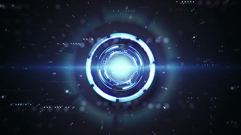 blue futuristic techno circular shape animation loop 4k (4096x2304) Animation