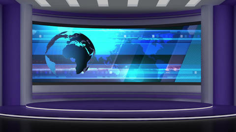 News TV Studio Set 72 - Virtual Background Loop Footage