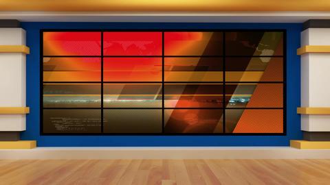 News TV Studio Set 74 - Virtual Background Loop Footage