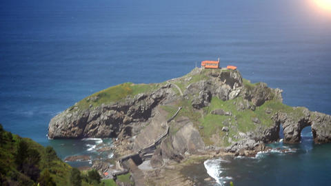 The San Juan de Gaztelugatxe. Basque Country, Spain Footage
