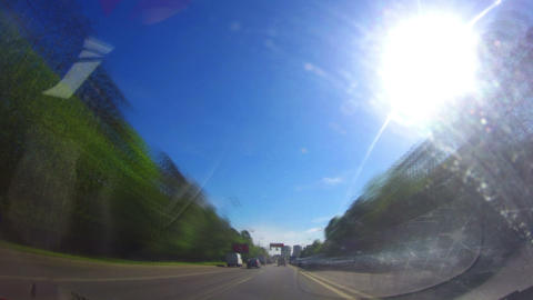 Timelapse Drive Through A City stock footage