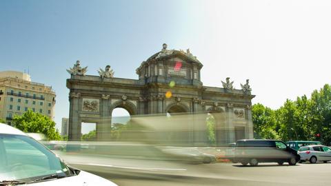 "The Puerta de Alcala (""Alcala Gate""). Madrid, Spain. Timelapse Footage"