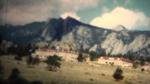 (8mm Vintage) 1949 Estes Park, Colorado USA Footage