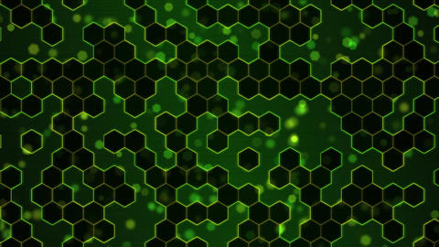 Scrolling Hexagon Background Animation - Loop Green stock footage