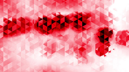 Graphic Animation With Triangles And Encrusted Red Spots Effects In Background stock footage