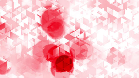 graphic animation with triangles and red spots effects in... Stock Video Footage