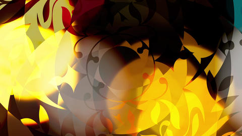 Beautiful colored and shiny animation with rotating... Stock Video Footage