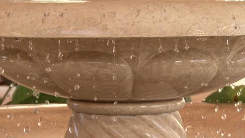 Bahai Gardens. Fountain stock footage