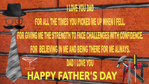 FATHER ' S DAY CARD Footage