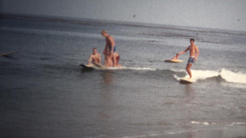 (8mm Vintage) 1968 California Beach Surfing Footage