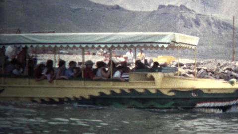 (8mm Vintage) 1966 Amphibious Vehicle in Dinosaur, Colorado. USA Footage