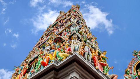 Temple Singapore stock footage