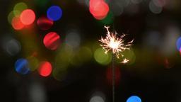 Christmas Sparklers stock footage