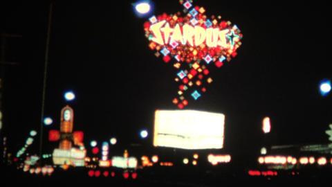 (8mm Vintage) 1966 Stardust Hotel Las Vegas USA Footage