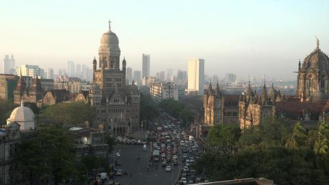 Chhatrapati Shivaji Terminus (CST) formerly Victoria Terminus in Mumbai, India i Footage