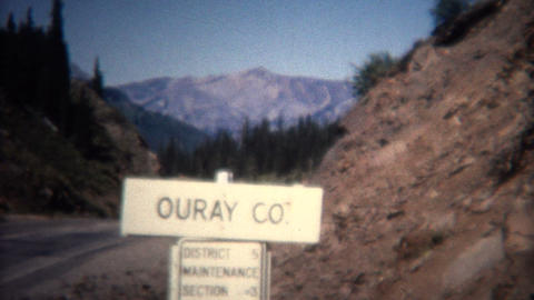 (8mm Vintage) 1966 Ouray Colorado Sign Aerial Town Footage