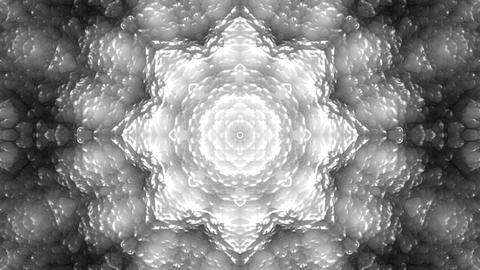 4 K Glassy Abstract Kaleida Style Looping Background Animation 1 bw Animation