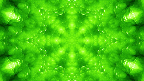 4 K Glassy Abstract Kaleida Style Looping Background Animation 16 green Animation