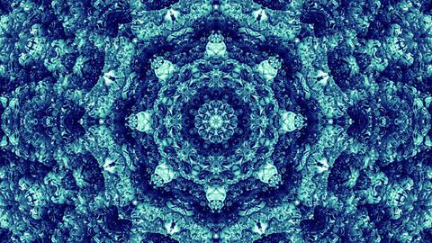 4 K Glassy Abstract Kaleida Style Looping Background Animation 20 blue Animation