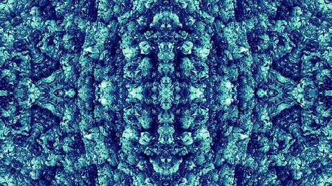 4 K Glassy Abstract Kaleida Style Looping Background Animation 26 blue Animation
