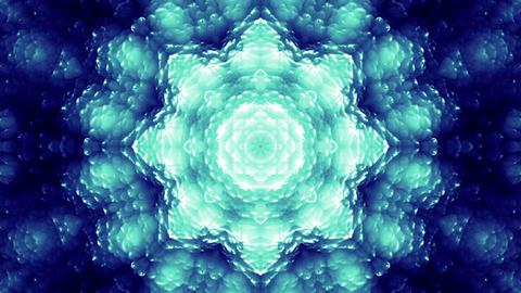 4 K Glassy Abstract Kaleida Style Looping Background Animation 3 blue Animation