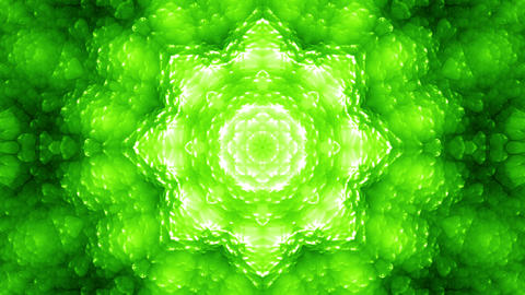 4 K Glassy Abstract Kaleida Style Looping Background Animation 4 green Animation