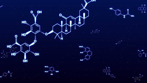 chemica formula Blue glow Animation