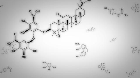 chemica formula White Animation