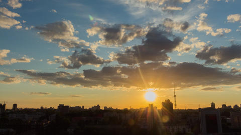 City Sunset 6 Footage