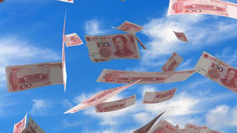 Falling Chinese Yuan Animation
