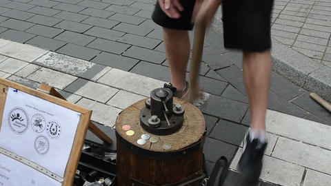 man make handmade occasional coins vilnius city capital day Live Action