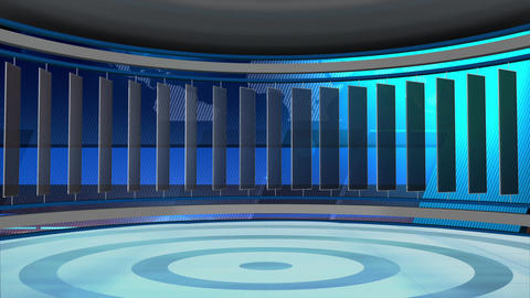 News TV Studio Set 77 - Virtual Background Loop Footage