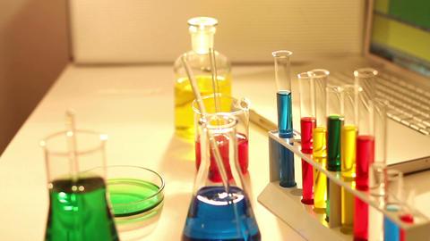 Laboratory CSI 70 investigating Stock Video Footage