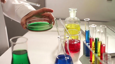 Laboratory CSI 72 investigating Footage