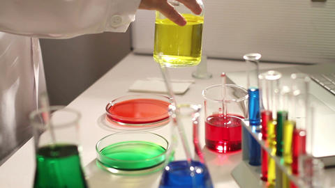 Laboratory CSI 74 investigating Stock Video Footage