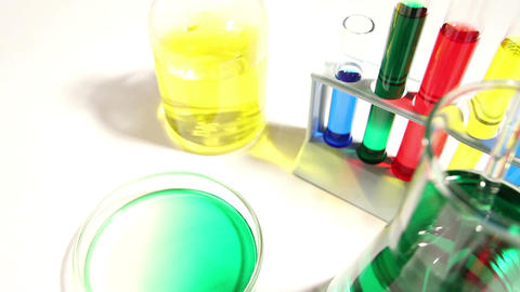 Laboratory CSI 104 dolly Stock Video Footage