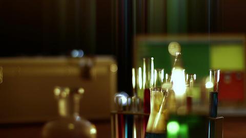 Laboratory CSI 116 dolly stylized Stock Video Footage