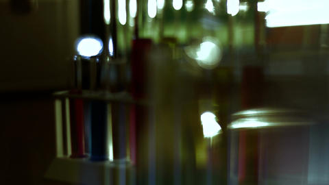 Laboratory CSI 118 dolly stylized Stock Video Footage