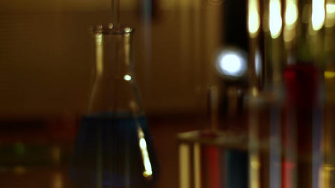 Laboratory CSI 122 dolly stylized Stock Video Footage