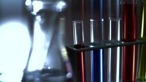 Laboratory CSI 130 dolly stylized Stock Video Footage